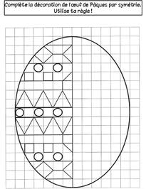 Cahier de vacances de Printemps symétrie ce1 ce2