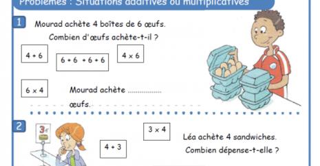 Problèmes : multiplication et addition réintérée
