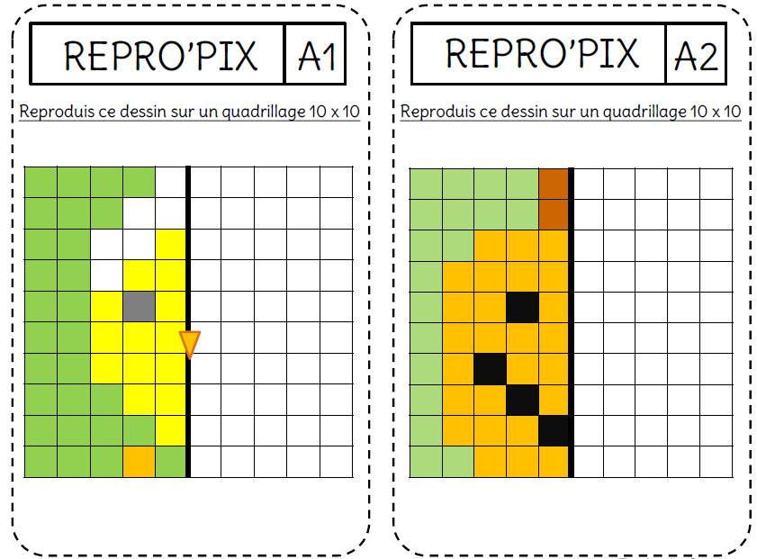 La Symétrie Par Le Pixel Art L Ecole De Crevette