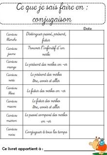 Ceintures de conjugaison