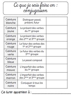 Ceintures de conjugaison Ce2