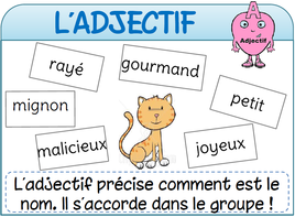 Affichages de français adjectif