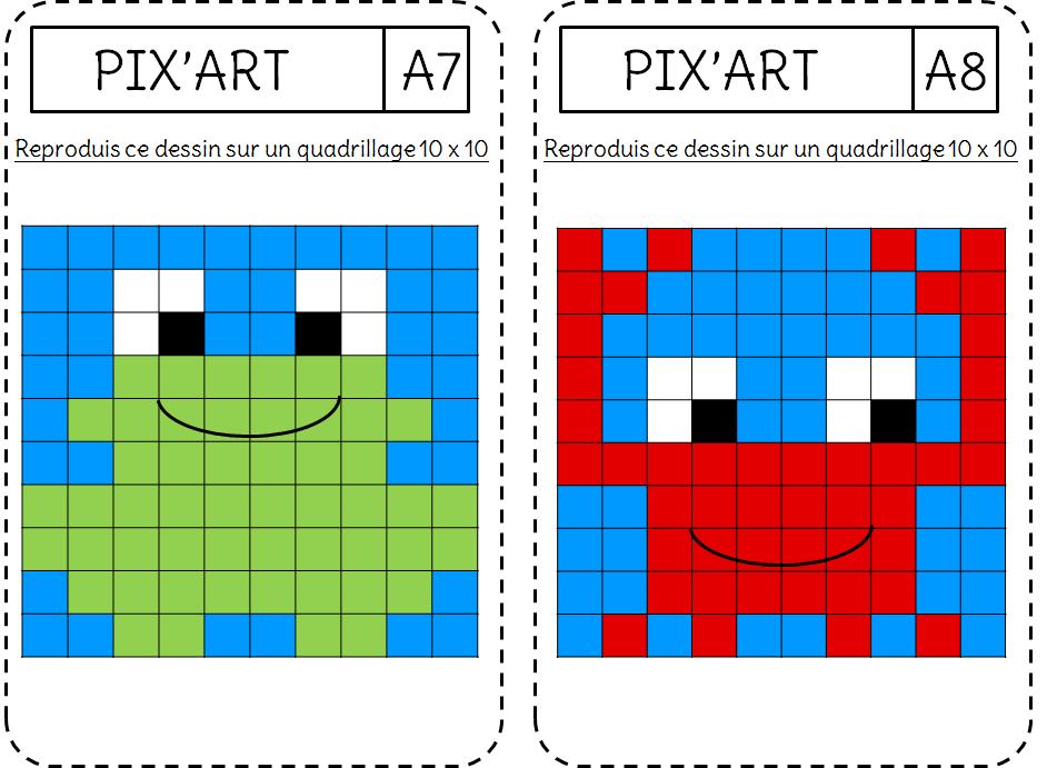 Reproduction Le Pixel Art L Ecole De Crevette