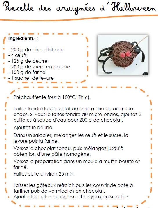 Recette Des Araignées En Chocolat D Halloween L Ecole De