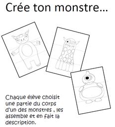 Production d'écrits autour des monstres