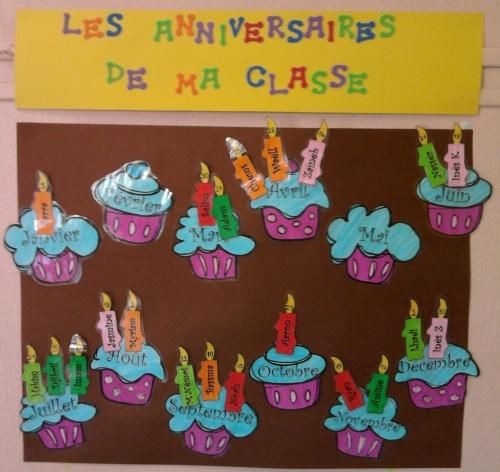Cup cakes d'anniversaire