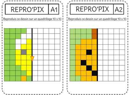 La Symétrie Par Le Pixelart L Ecole De Crevette