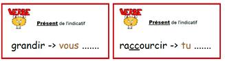 Ateliers de conjugaison des verbes