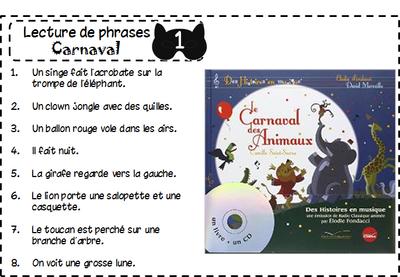 Atelier de lecture - Carnaval