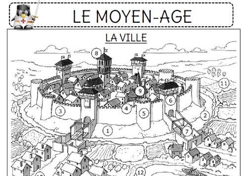 Le Moyen-Age ce1 chevalier chateau fort