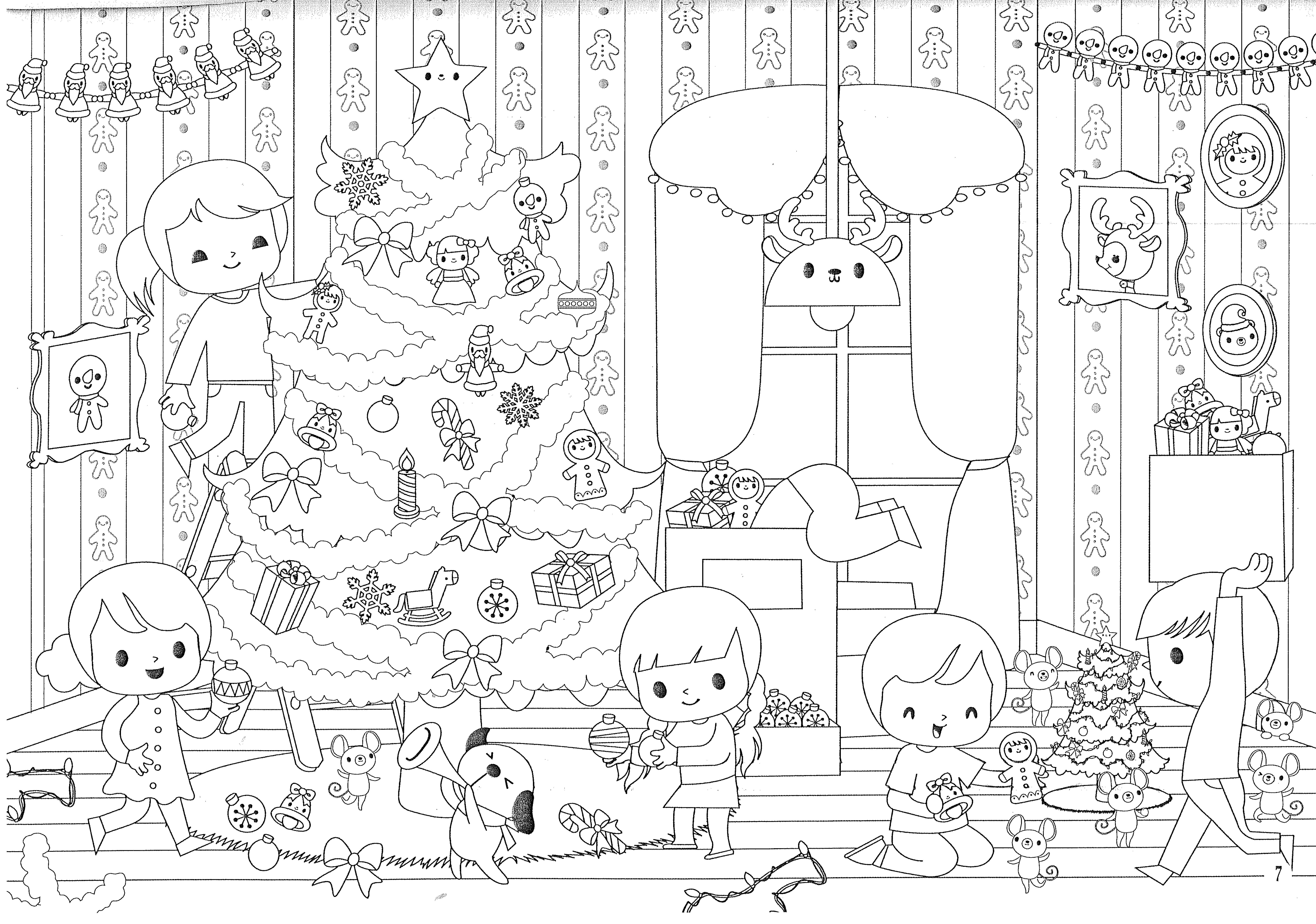 Des Coloriages De Noël L Ecole De Crevette