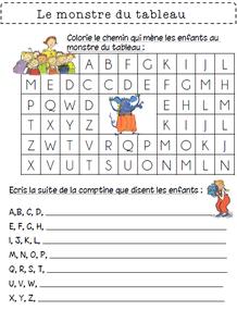 Le monstre du tableau alphabet livre rentrée école