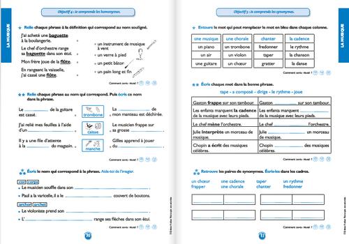 Le vocabulaire au CE1